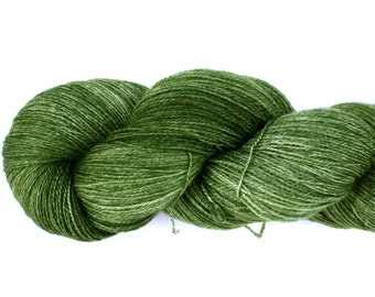 Envy--hand dyed lace weight yarn, BFL and silk, (875yds/100gm)