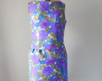 Two piece skirt dress / 1960s skirt and top
