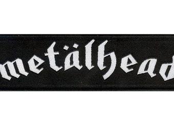 Metalhead woven fabric patch - Motorhead. Rock N Roll. Heavy Metal. Patch Jacket. Lemmy. Death Metal. Black Metal. Goth.