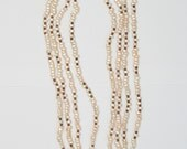 Luxury Vintage Glass Faux Pearl Necklaces x 4 Multi Strand Four Strands Long Length Opera Length Lustrous 1970s 1980s Teardrop Faux Pearls