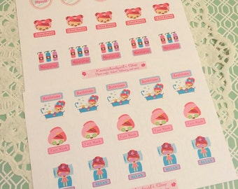 Pamper Myself Spa Planner Stickers~