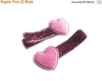 20% OFF Pink Heart Hair Clips Pink Hair Clips Pink Glitter Hair Clips Baby Girl Hair Clips Baby Hair Clips Valentines Day Toddler Girl Playf