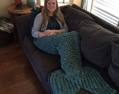 Sea Green Ladies Mermaid Lap Blanket -- Please allow 2 weeks for delivery
