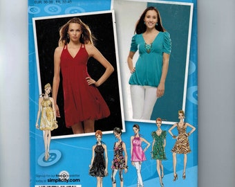 Misses Sewing Pattern Simplicity 2956 Misses Knit Dresses or Tunics Size 4 6 8 10 12 Bust 29 30 31 32 33 34 UNCUT  99