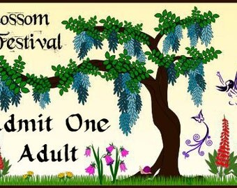 ONE ADULT Pass to FAIRYBLOSSOM Festival, June 17 - 18, 2017
