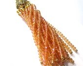 25% Off Beaded Tassel Amber AB and Antique Gold, Crystal Tassel Boho Chic trendy jewelry supplies Home Decor Jewelry Tassel TAS0005 G16