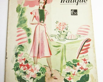 1930's Vintage French Magazine La Mode Pratique July, 1939 WWII Fashion & Sewing Pattern