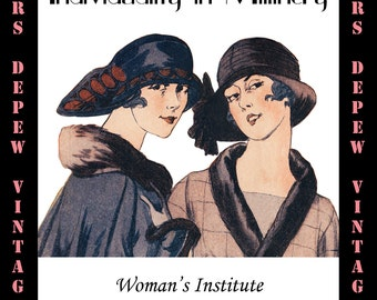 Vintage Sewing Book 1920's Individuality in Millinery Ebook Hat Making How To -INSTANT DOWNLOAD-