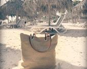 Woven Tote Bag, Linen Tote, Jute Tote Bag, Beach Bag, Minimalist Bag,Casual, Simple Tote Bag for Women