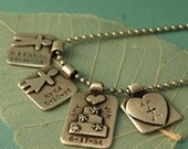 Family Tag Charms and Necklace