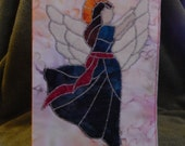 5 inch x 8 inch Quilted Angel Chrismas Card