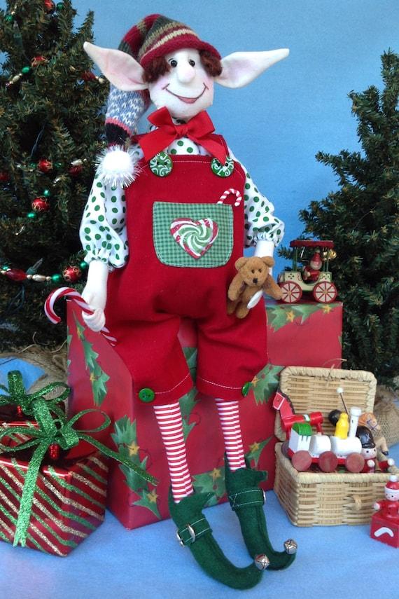 Mailed Cloth Doll Pattern Christmas Boy Elf