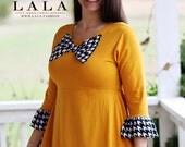 LillyAnnaKids Ladies TIFFANY Ruffled Top Shirt Peplum LALA