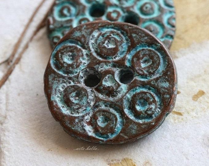 DECO BUTTON No. 133 .. 1 Mykonos Greek Decorative Button 20mm (M133-1)
