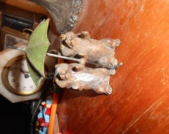 Miniature Cast Metal Bear Figurine