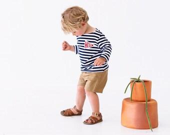 Linen kids shorts mustard