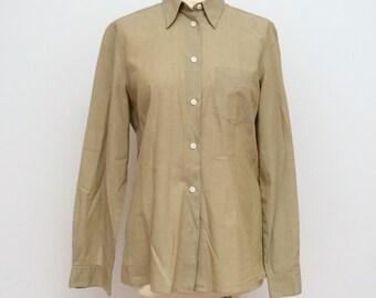 Women's shirt, Classic Shirt, Oversize Shirt, Olive green
