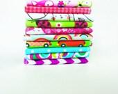 Cloth Napkins - Childrens Napkins - Lunch box Napkins - Childs Napkins - Kids Cloth Napkins - Set of 5 or 10 - Girls Mix