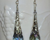 Long Beaded Teardrop Earrings