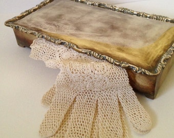 Lovely Vintage Brass Trinket Box, Brass Jewelry Box, Victorian Jewelry Box
