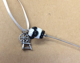 Spinning Wheel Orifice Threader Hook