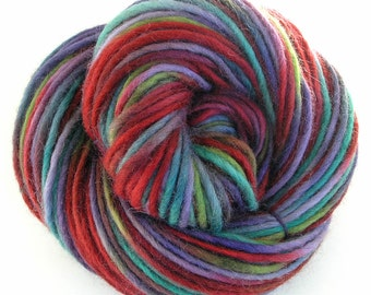 Bulky Yarn Hand Dyed Bulky Wool Yarn Chunky Scarf Yarn DIY  - Autumn Flair