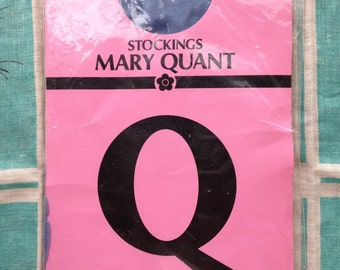 60's Mary Quant Charleston shiny stockings. Blue Moon average.