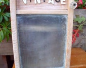 """WASHBOARD CABINET made by REcycling a washboard into WaLL CaBINET + """"ViNTAGE,"""" antique sign letters-Perfect Medicine Cabinet /Spice cupboard"""