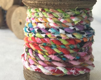 Spool of Handmade Fabric Twine   T402