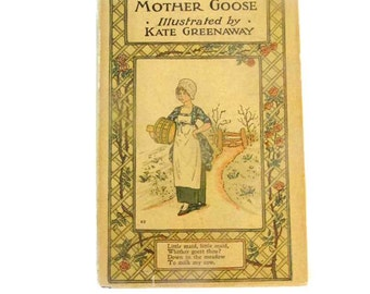 Kate Greenaway - Mother Goose - early 1940's printing - Hardcover with dust jacket