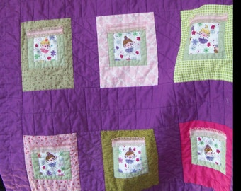 Small Quilt   Faries at the Windows   32 x 40