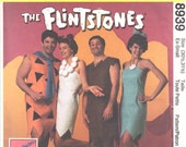 McCalls 8939 5543 7202 Mens Womens Flintstones Costume Pattern Fred Barney Betty Wilma Adult Costume Pattern Size XS Bust Chest 30 31 UNCUT