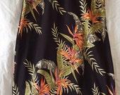 DRESS HAWAIIAN Vintage Print Summer Ladies Dress Cover Up Cruise Vacation Beach