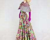 Silkstone Barbie Outfit Dress Evening Gown and Cape - silk & Liberty lawn