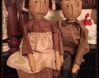 Primitive Pilgrim Couple