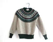 vintage WOOLRICH fair isle sweater.