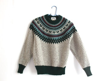 vintage WOOLRICH fair isle sweater.