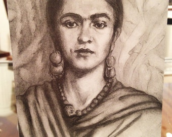 Young Frida Kahlo Blank Card -  Ponte's Historic Figures Art Cards