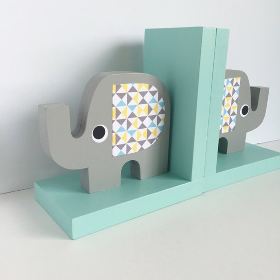 Elephant bookends elephant nursery elephant kids decor for Chambre 8x10