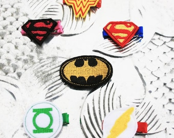 Capitol Hero Clippie, Your Choice of DC Comic Inspired Hair Clip