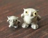 Vintage Figurine HAGEN RENAKER Barn OWL Mother and Baby