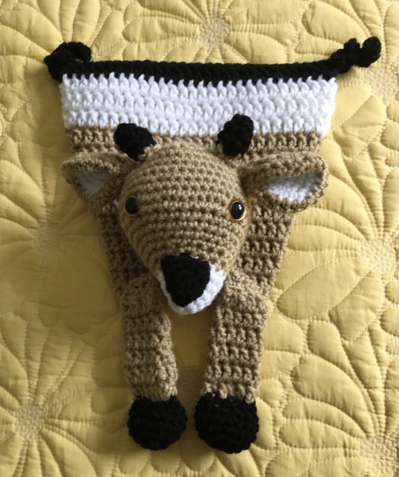 Soft Tan, Black and White Darling Little Deer Rag Doll Toy/Lovey