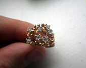 Mid Century - Bold Cocktail RIng - SIze 5. Vintage