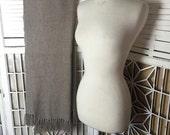 100% Mohair Shawl - mohair throw - taupe mohair scarf - luxury throw - luxury shawl - textured mohair shawl