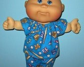 Cabbage Patch Newborn Surprise Teeny Tiny Preemies  Doll Clothes Baseball Pajama  Set  10 inch  Doll Clothes Girl or Boy  doll