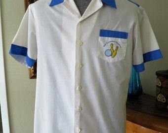 Men's Hawaiian 2-toned bowling shirt - 44 Chest