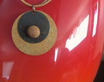 Lake Michigan Beach Stone Necklace: Circles