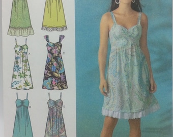 Easy to Sew Dress Pattern Simplicity 4119 Misses Size 6 8 10 12 14 Dress Pattern in Three Lengths Summer Dress