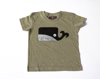 unisex kids' clothing -  WILLERD THE WHALE - baby - toddler - boy - top - whale t shirt - animal shirt - baby whale tee - baby gift