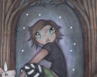 A Modern Witch - 11x14 Original Illustration